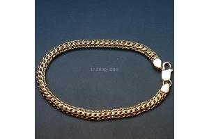 Золотая цепочка плетение питон фото