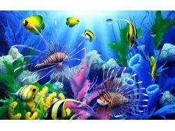 Обои на рабочий стол рыбы подводный мир