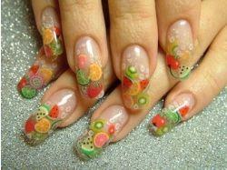 Дизайн ногтей фрукты фото