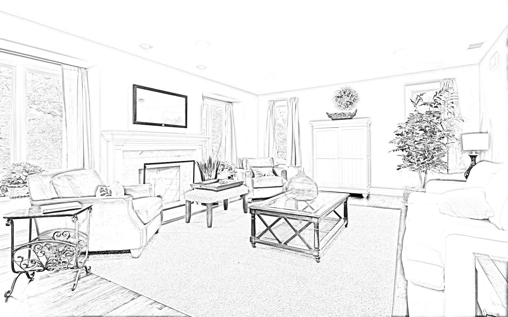 связь картинки гостиной комнаты рисунок загрузить