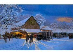 Фото зима вечер 2
