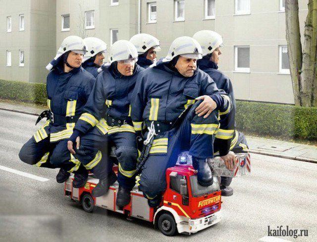 Пожарник приколы картинки, открытка новый