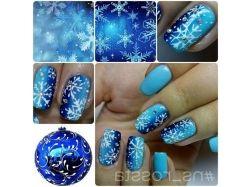 Ногти дизайн фото зима