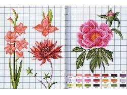Вышивка крестом картинки цветы