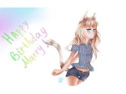 День рождение картинки аниме