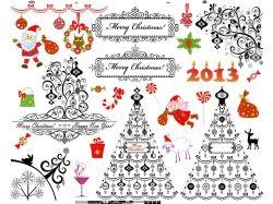 Новогодние открытки узоры