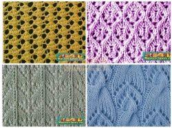Ажурное вязание спицами схемы фото