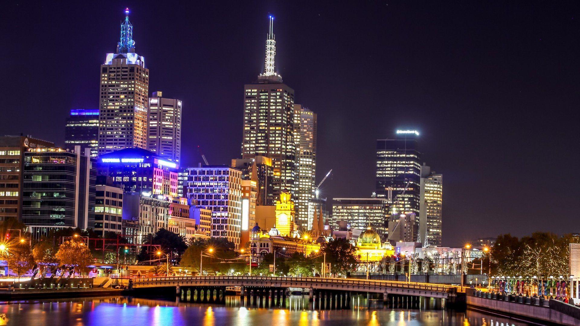 страны архитектура Австралия Мельбурн небо облака природа скачать