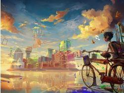 Города рисунки детей