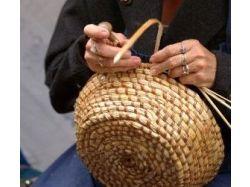 Плетение из лозы корзины фото