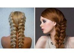 Картинки красивые косички на густые средние волосы 6