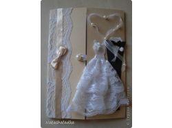 Свадебная открытка своими руками фото 5