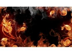 Огненные обои на рабочий стол 5