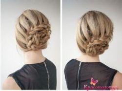 Плетение на средние волосы фото 2