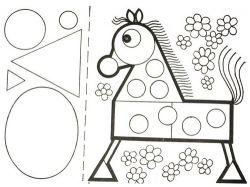 Картинки ключей из геометрических фигур для детей 6