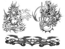 Прикольные рисунки тату 1