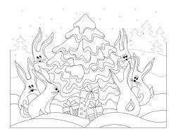 Зимние игры картинки для детей раскраски 4