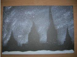Картинки работы детей набрызг салют 5