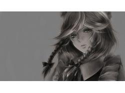 Красивые аниме картинки чб 4