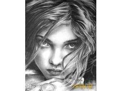 Красивые нарисованные девочки карандашом картинки 2