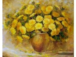 Цветы картины пастель 2