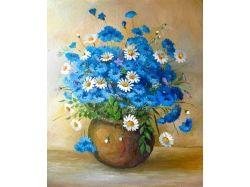 Цветы картины пастель 4