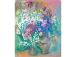 Цветы картины пастель 6