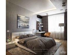 Недорогой и красивый ремонт спальни в своем доме картинки 1