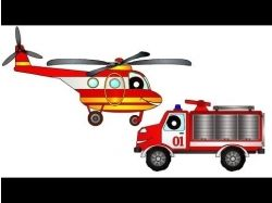 Пожарная машина тушит пожар картинки для детей 3