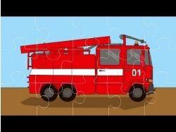 Пожарная машина тушит пожар картинки для детей 6