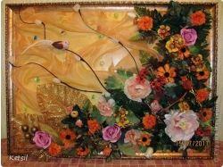 Поделки из искусственных цветов фото 2