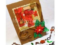 Рождественская открытка своими руками фото 1