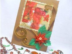 Рождественская открытка своими руками фото 6
