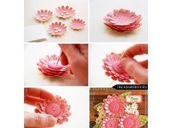 Цветы на открытки своими руками 1