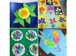 Цветы на открытки своими руками 4