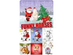 Новогодние рисунки лошадь 4