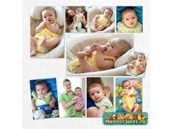 Скрапбукинг фотоальбом для новорожденных
