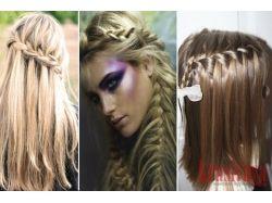 Плетение кос на средние волосы картинки