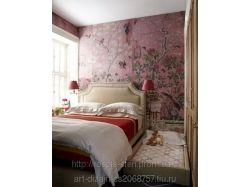 Роспись стен в спальне фото