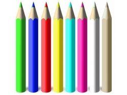Пейзажи цветными карандашами