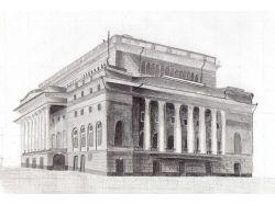 Рисунки зданий карандашом