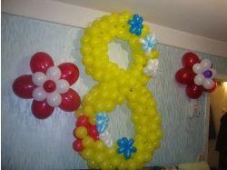 Цветы из шариков фото