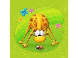 Картинки жирафа смешные