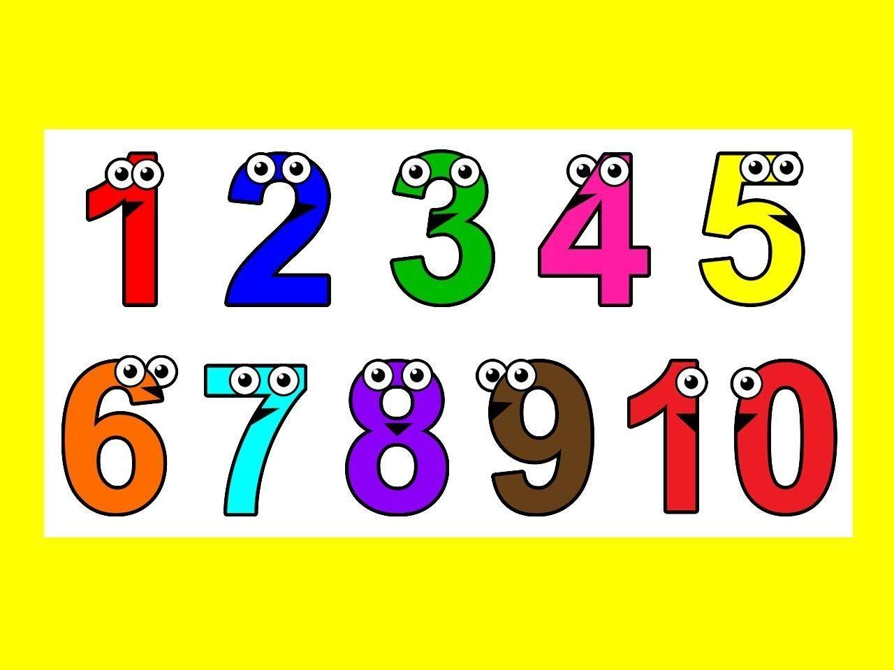 Картинки счета цифр для детей