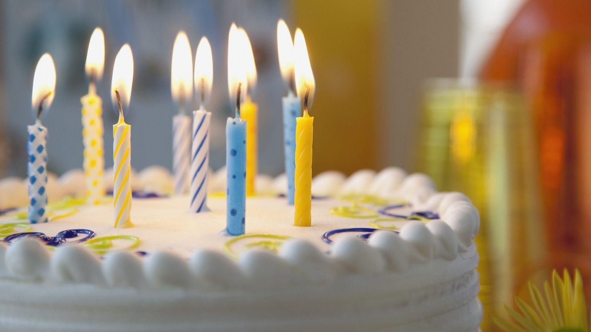 Картинка с днем рождения торт свечи