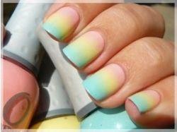 Накрасить ногти двумя цветами фото
