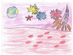 Рисунки детей про космос
