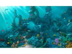 Подводный мир рисунки красками