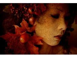 Красивые фото девушек осенью