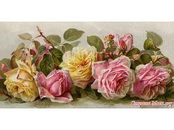 Винтажные цветы картинки